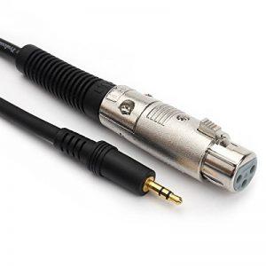 3.5mm TRS mâle vers XLR 3Broches Femelle Professional Faible Bruit câble de Micro 1m (1m) de la marque JSJ image 0 produit