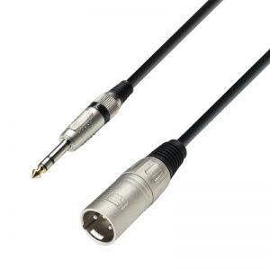 Adam Hall Cables K3BMV0300 Série 3 Star Câble Microphone XLR Mâle vers Jack 6,35 mm stéréo Mâle 3 m de la marque Adam Hall image 0 produit