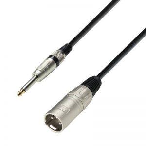 Adam Hall Cables K3MMP0600 Câble micro XLR mâle vers jack mono 6,3 mm, longueur 6 m de la marque Adam Hall image 0 produit