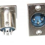 AERZETIX - Lot de 2 prises chassis XLR mâle 3 broches pins connecteur fiche de la marque AERZETIX image 1 produit