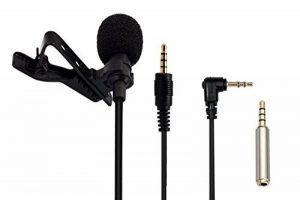 AGPTEK AC02 Microphone pour PC 3.5mm Jack Audio avec Pince pour Skype, iPhone, Android, etc, Noir de la marque AGPTEK image 0 produit