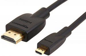 AmazonBasics Câble micro HDMI vers HDMI 2.0 haut débit 1,82m de la marque AmazonBasics image 0 produit