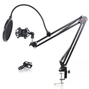 Amazy Kit d'accessoires pour microphone – Pied de micro articulé, filtre anti-pop, support micro et pince de fixation pour une prise de son optimale (sans microphone) de la marque Amazy image 0 produit