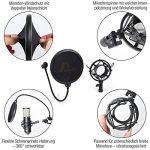 Amazy Kit d'accessoires pour microphone – Pied de micro articulé, filtre anti-pop, support micro et pince de fixation pour une prise de son optimale (sans microphone) de la marque Amazy image 1 produit