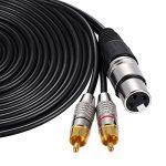 Ammoon - Doubleur câble audio stéréo 1XLR femelle à 2RCA fiche mâle - 5m 5m / 16.4ft de la marque ammoon image 2 produit