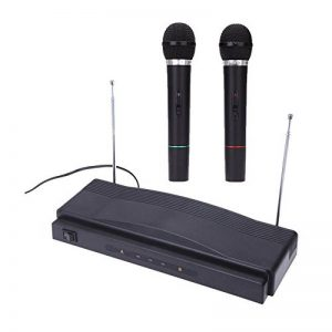 ammoon Microphone Sans Fil Studio Kit de Système de Microphone à Distance FM Émetteur Récepteur avec Câble Audio pour KTV Enseignement Spectacle de la marque ammoon image 0 produit