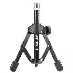 ammoon Trépied Support de Microphone pour Bureau et Table Mini Pliable Noir MS-12 de la marque ammoon image 0 produit
