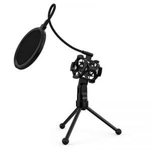 ammoon Trépied Support de Microphone pour Bureau et Table Mini Pliable Noir MS-12 (Filtre Anti-Pop) de la marque ammoon image 0 produit