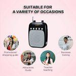 Amplificateur de voix sans fil, SHIDU Microphone sans fil UHF portable Parfait pour les guides touristiques de la marque SHIDU image 2 produit
