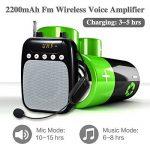 Amplificateur de voix sans fil, SHIDU Microphone sans fil UHF portable Parfait pour les guides touristiques de la marque SHIDU image 4 produit