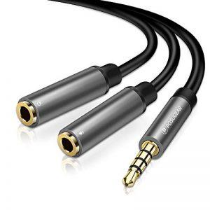 Audio Splitter Jack 3.5, POSUGEAR Câble Adaptateur 3.5mm Mâle à Double 3.5mm Femelle Micro Casque Câble Plaqué Or Compatible avec iPod, Téléphone, Portables, Xbox One, PS4, PC de la marque POSUGEAR image 0 produit