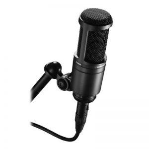 Audio-Technica AT2020 Microphone Cardioïde à électret, Noir de la marque Audio-Technica image 0 produit