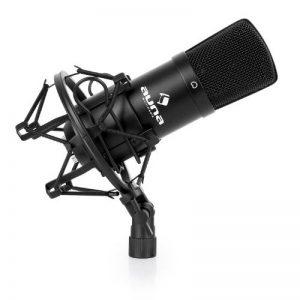 auna CM001B Micro à condensateur professionnel (utilisation studio avec suspension, capsule 16 mm, cardioïde 320 Hz-18 KHz, sortie XLR) - noir de la marque Auna image 0 produit