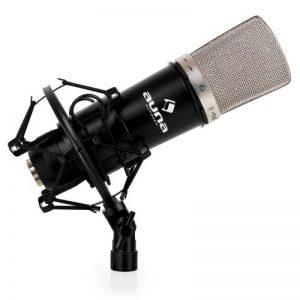 auna CM003 Micro à condensateur XLR (pour studio, concerts ou radio, membrane en or pulvérisé, protection vent incluse, 20 Hz - 20 KHz, sortie XLR) de la marque Auna image 0 produit