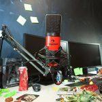 Auna MIC-900S • Microphone à condensateur USB • Caractéristique cardioïde • Boîtier en métal • Bande passante: 30Hz-18kHz • Capsule de microphone à élecret 16mm • Plug & Play • Argent de la marque Auna image 3 produit