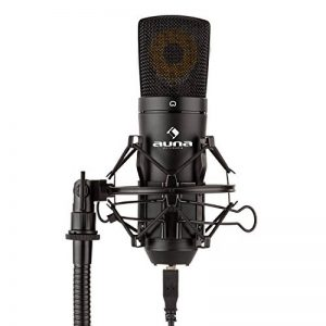auna MIC-920B • Microphone USB de studio à condensateur • Capsule de micro électret 16 mm intégrée • Directivité cardioïde affirmée • Sortie casque • Plug & Play via USB • Idéal pour Windows ou Mac de la marque image 0 produit