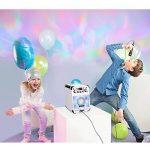Auna Rockstar LED • Chaîne karaoké • Karaoké avec Lecteur CD et BT• LED Multicolores et jellyball pour Une Ambiance Disco• Effet écho • Bluetooth • Entrée USB • CD, CD-R et CD RW • Robuste • Blanc de la marque Auna image 2 produit