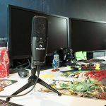auna Studio-Pro Microphone USB à condensateur (bonnette anti-vent, câble et étui inclus, volume micro réglable, prise casque avec régleur de mixage) de la marque Auna image 4 produit
