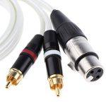 Baoblaze Double Cable Audio Mono RCA Mâle vers Femelle Cable XLR 150cm pour Ordinateur Mixer de la marque Baoblaze image 3 produit