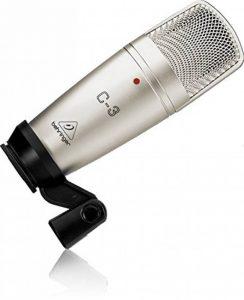 Behringer C-3 Microphone de studio à condensateur Double diaphragme Gris de la marque Behringer image 0 produit