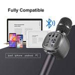 Beschoi Karaoke Micro sans Fil 4 en 1 Microphone Bluetooth 4.2 LED Lumière Disco avec Support Telephone Compatible avec Apple/Android/Smartphone/PC/iphone/iPad pour Adult et Enfant Gris de la marque Beschoi image 3 produit