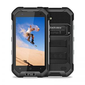 Blackview Telephone Portable Incassable, BV6000 (Ecran: 4.7 HD - 32Go ROM - Android 7.0 - Dual Micro SIM - 4500mAh Batteries - Camera 13MP - 4G) Smartphone Etanche, Telephone Antichoc 2018 - Noir de la marque Blackview image 0 produit