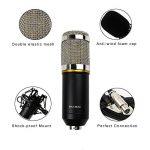 BM-800 Microphone Enregistrement Studio Radio Kit Inclus (1) Microphone à Condensateur Professionel Noir + (1) Support de Microphone Antichoc + (1) Bouchon Anti-Vent en Mousse + (1) Câble d'Alimentation - MK001 de la marque Modesty image 3 produit