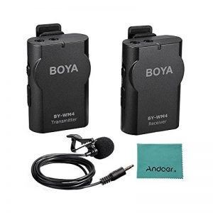BOYA BY-WM4 2.4GHz Sans Fil Micro-cravate système pour Canon Nikon Sony Panasonic DSLR Caméscope Appareil Photo iphone android smartphone + Carry case de la marque Boya image 0 produit
