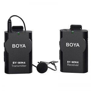 BOYA BY-WM4 Sans Fil Micro-cravate système pour Canon Nikon Sony Panasonic DSLR Caméscope Appareil Photo iphone android smartphone de la marque Boya image 0 produit
