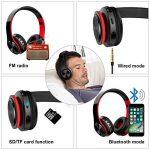 Casque Bluetooth Sans Fil, Macrourt Casque Audio Pliable Fonction 4-en-1, Micro Intégrée Bluetooth, Radio, Carte de Mémoire, Hi-Fi Audio, Compatible avec iPhone, iPad, Mac, PC de la marque Macrourt image 4 produit