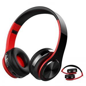 Casque Bluetooth Sans Fil, Macrourt Casque Audio Pliable Fonction 4-en-1, Micro Intégrée Bluetooth, Radio, Carte de Mémoire, Hi-Fi Audio, Compatible avec iPhone, iPad, Mac, PC de la marque Macrourt image 0 produit