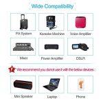 Casque sans fil UHF rechargeable avec récepteur mis à niveau pour amplificateur de voix Système audio audio Haut-parleur externe Appareil photo DSLR Idéal pour amplificateur de voix de la marque SHIDU image 3 produit