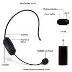 Casque sans fil UHF rechargeable avec récepteur mis à niveau pour amplificateur de voix Système audio audio Haut-parleur externe Appareil photo DSLR Idéal pour amplificateur de voix de la marque SHIDU image 1 produit