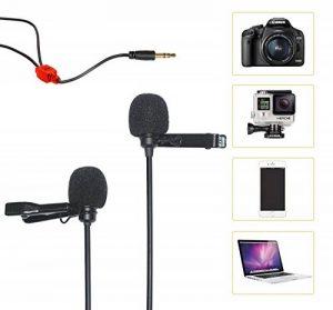 COMICA CVM-D02 Lavalier microphone double tête haut-parleur omnidirectionnel mini condensateur à pince pour Canon 5DIIISonyA7RII Panasonic GH4 GH5 Apple Iphone6 Iphone7 GoPro3 GoPro4 de la marque COMICA image 0 produit