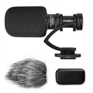 COMICA CVM-VM10II Microphone Shotgun vidéo, Mini Microphone Directionnel avec Coupe-Vent pour Camera Reflex DSLR Canon Sony Nikon Panasonic Caméscope Gorpo/Smartphone Iphone et Android DJI OSMO de la marque COMICA image 0 produit