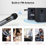 ELEGIANT Microphone Bluetooth, Micro Professionnel sans Fil Intégré FM Portables et Récepteur UHF Amplificateur pour Réunion, KTV, Karaoké, Mariage en Plein Air, Soirée, Bar, Eglise etc. de la marque ELEGIANT image 1 produit