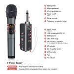 ELEGIANT Microphone Bluetooth, Micro Professionnel sans Fil Intégré FM Portables et Récepteur UHF Amplificateur pour Réunion, KTV, Karaoké, Mariage en Plein Air, Soirée, Bar, Eglise etc. de la marque ELEGIANT image 4 produit