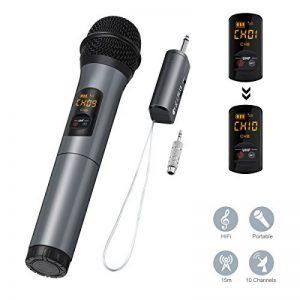 ELEGIANT Microphone Bluetooth, Micro Professionnel sans Fil Intégré FM Portables et Récepteur UHF Amplificateur pour Réunion, KTV, Karaoké, Mariage en Plein Air, Soirée, Bar, Eglise etc. de la marque ELEGIANT image 0 produit