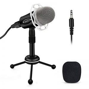 ELEGIANT Microphone PC, Micro Professionnel à Condensateur Podcasting Studio XLR vers Jack pour Radio Skype Youtube Jeux Videos Recherche de Voix Compatible avec Ordinateur PC Windows Mac de la marque ELEGIANT image 0 produit