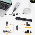 ELEGIANT Microphone sans Fil Micro Blutooth Portable de Système VHF avec Double Micro Dynamique Micro Multifonctionnel pour la Mariage à L'extérieur Karaoké DJ Soirée Fête Réunion Bar Eglise de la marque ELEGIANT image 4 produit