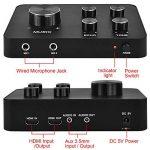 Ensemble de système de mixage mixer de microphone portable karaoké, avec double micro sans fil UHF, entrée/sortie HDMI et AUX pour karaoké, cinéma maison, amplificateur, haut-parleur de la marque Rybozen image 3 produit