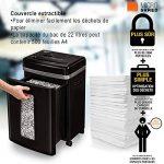 Fellowes 4074101 Destructeur de documents professionnel 450M Coupe Micro-confettis 9 feuilles - Technologies : SilentShred réduisant les nuisances sonores et Auto Reverse en cas de bourrage de la marque Fellowes image 3 produit