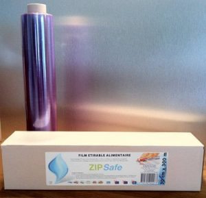 Film alimentaire étirable PRO - ZIP cut - conditionnement aliments, protection fraicheur, cuisson micro-ondes et congélateur 30 cm x 300m de la marque NATUR'AL PACKAGING image 0 produit