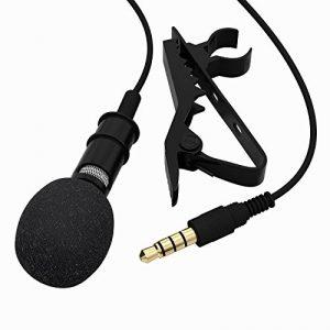 Fosfun YYPJ-12 Micro-cravate à condensateur omnidirectionnel avec clip pour Apple iPhone,/iPad/iPod Touch et smartphones Samsung et Windows de la marque Huacam image 0 produit