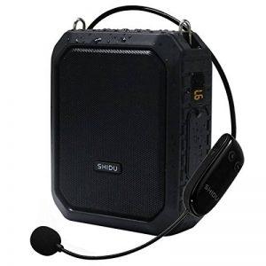 Haut-parleur imperméable de Bluetooth de haut-parleur d'amplificateur de voix sans fil, amplificateur sans fil de microphone Haut-parleur portatif de haut-parleur de mégaphone pour l'extérieur de la marque SHIDU image 0 produit