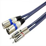 Huahan Haituo 2 XLR Mâle à 2 RCA Plug Pro Câble Audio Extension Adaptateur STC3CMXM S Série Twin RCA Mâle à Twin XLR Câble Mâle (6.56 ft) de la marque Huahan Haituo image 1 produit