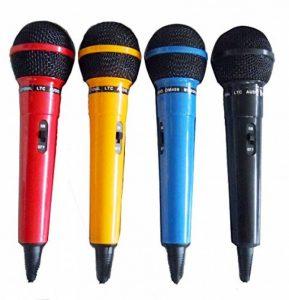 Ibiza DM400 Assortiment de 4 Microphones dynamiques Noir/bleu/rouge/jaune de la marque Ibiza image 0 produit
