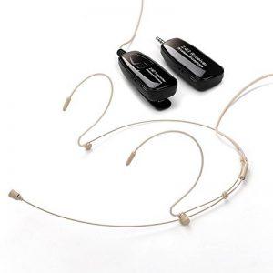 Jelly Comb - Microphone Sans Fil avec Crochets d'Oreille Rechargeable Détachable pour Ordinateur, Amplificateur, Mélangeur, Haut Parleur- Nude de la marque Jelly-Comb image 0 produit