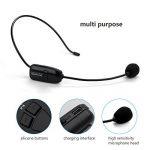Jelly Comb UHF Microphone sans Fil Haut-Parleur 2-en-1 pour Guide Tourisme Enseignement Conférence-Noir de la marque Jelly Comb image 2 produit