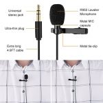 K&F Concept Micro Cravate Professionel Omnidirectional Clip-on Kit, Lavalier Lapel Condensateur Microphone Enregistreur pour iPhone, GoPro,Video Camera,PC,Macbook, Samsung Android, Téléphone-2m de la marque K&F CONCEPT image 2 produit